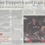 Sport 16 10 2019  Sebastiaan Knoppert is goed in gas geven